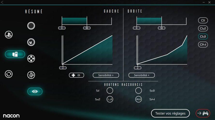 Test Nacon Pro Controller 3 - Logiciel 4