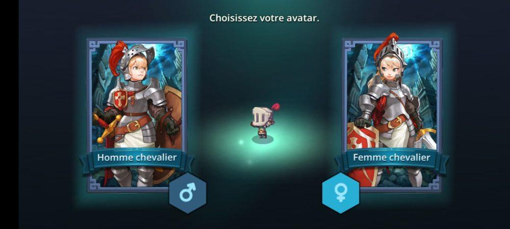 Choix du personnage