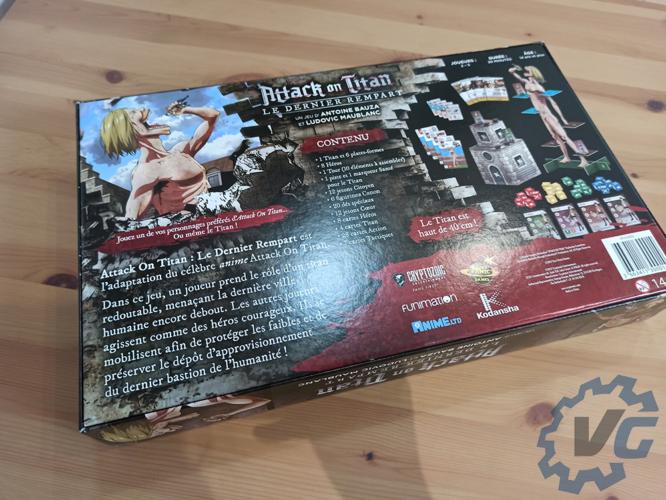 Boîte du jeu de plateau L'Attaque des Titans : Le dernier rempart