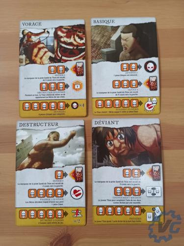 L'Attaque des titans : Le dernier rempart - Cartes Titans