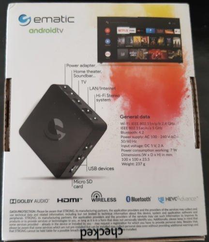 Test AndroidTV de Ematic - Boîte arrière