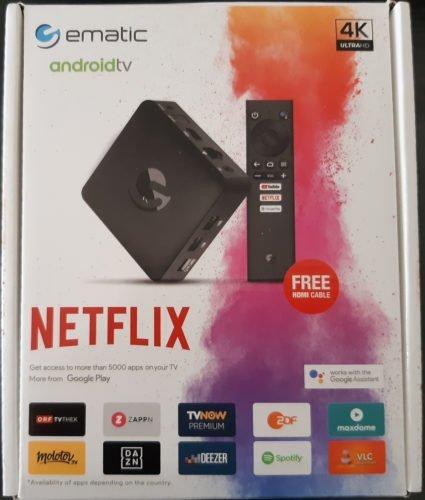 Test AndroidTV de Ematic - Boîte avant