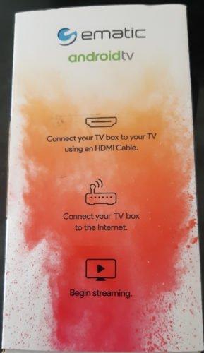 Test AndroidTV de Ematic - Boîte côté 2