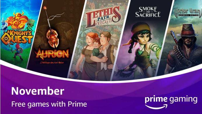 Prime gaming novembre