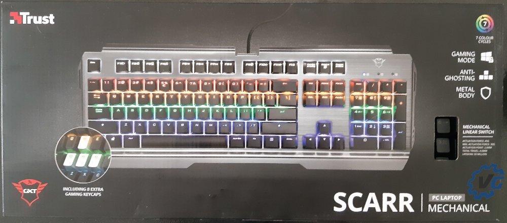 Test clavier Trust Gaming Scarr GXT 877 - boîte avant