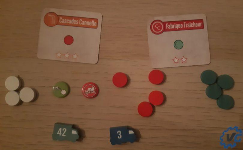 Test jeu de société The Mint - Delivery pions