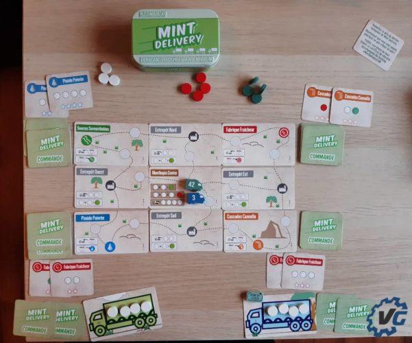 Test jeu de société The Mint - Delivery