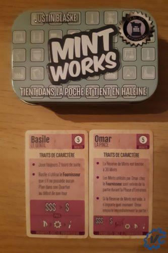 Test jeu de société The Mint - Works pions