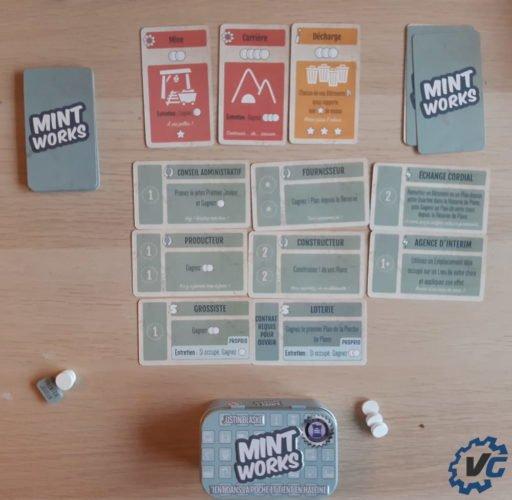 Test jeu de société The Mint - Works
