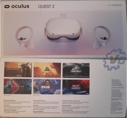 test Occulus Quest 2 - présentationd e la boîte