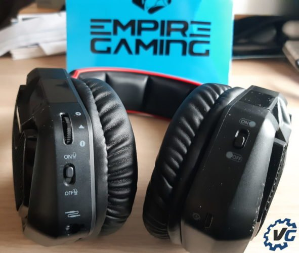 Test casque WarCry P-HW1 de Empire Gaming - Boutons