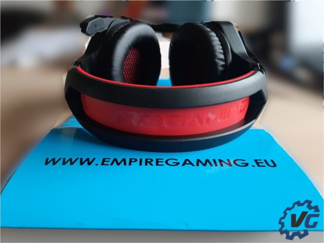 Test casque WarCry P-HW1 de Empire Gaming - Dessus
