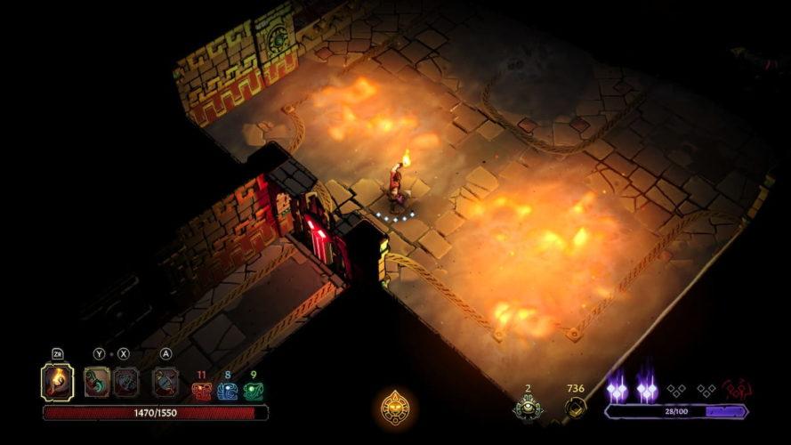 Test Curse of the Dead Gods - Effets de lumières