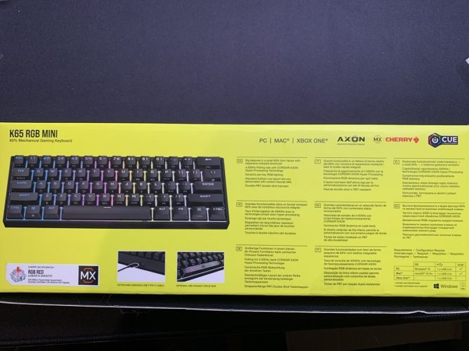 Corsair K60 RGB Mini