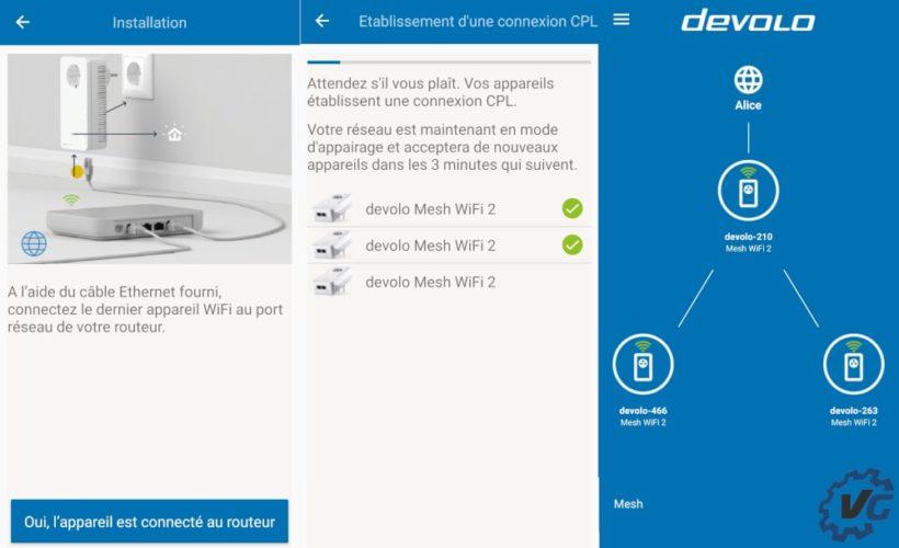 Test Devolo Mesh Wifi 2 - application