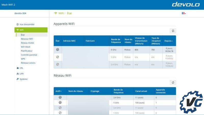 Test Devolo Mesh Wifi 2 - logiciel