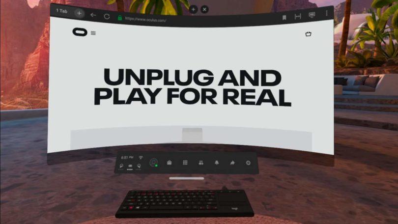 Brève sur l'Oculus Air Link de l'Oculus Quest 2 - exemple