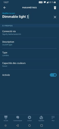Ampoule Innr App Alexa