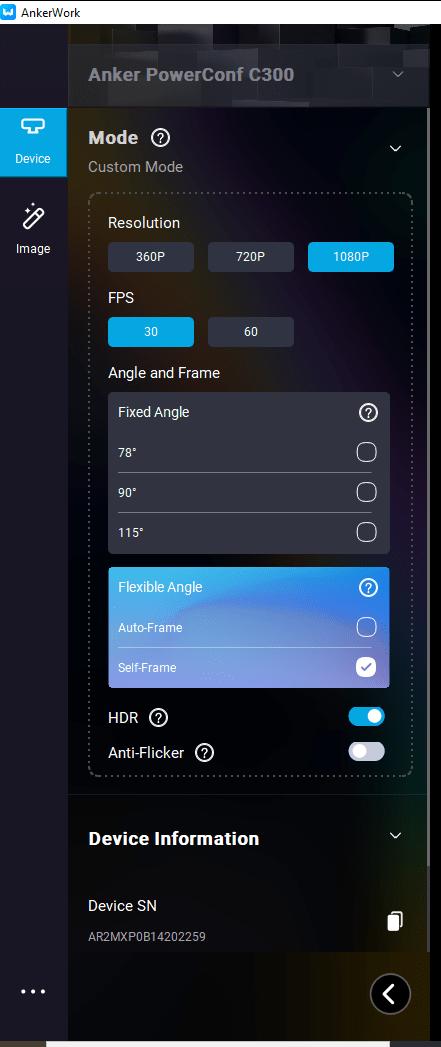 C300 PowerConf Anker Screen app 1