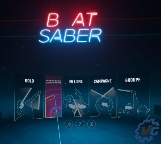 Beat Saber X Interscope « Mixtape Music Pack » - Menu