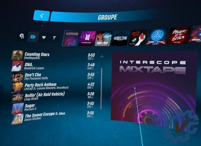 Beat Saber X Interscope « Mixtape Music Pack » - Mixtape