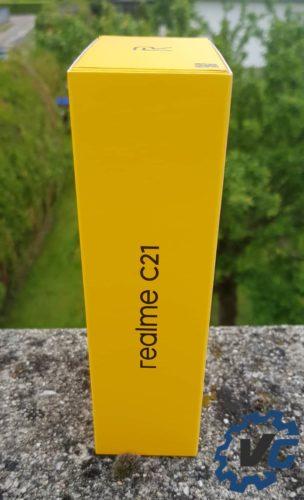 Test Realme C21 - Boîte côé