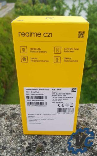Test Realme C21 - Boîte arrière