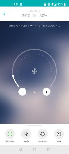 Duxx interaction app et ventilateur