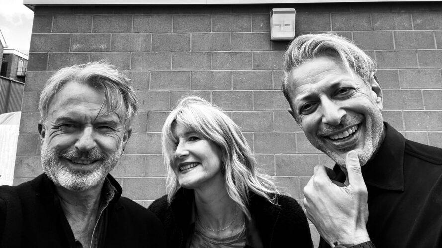 Sam Neil, Laura Dern et Jeff GoldBlum pour Jurassic World 3