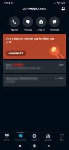 Application Alexa - Communiquer
