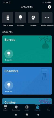 Application Alexa - Appareils