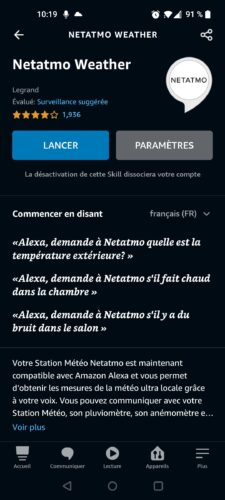 Skill Netatmo Alexa