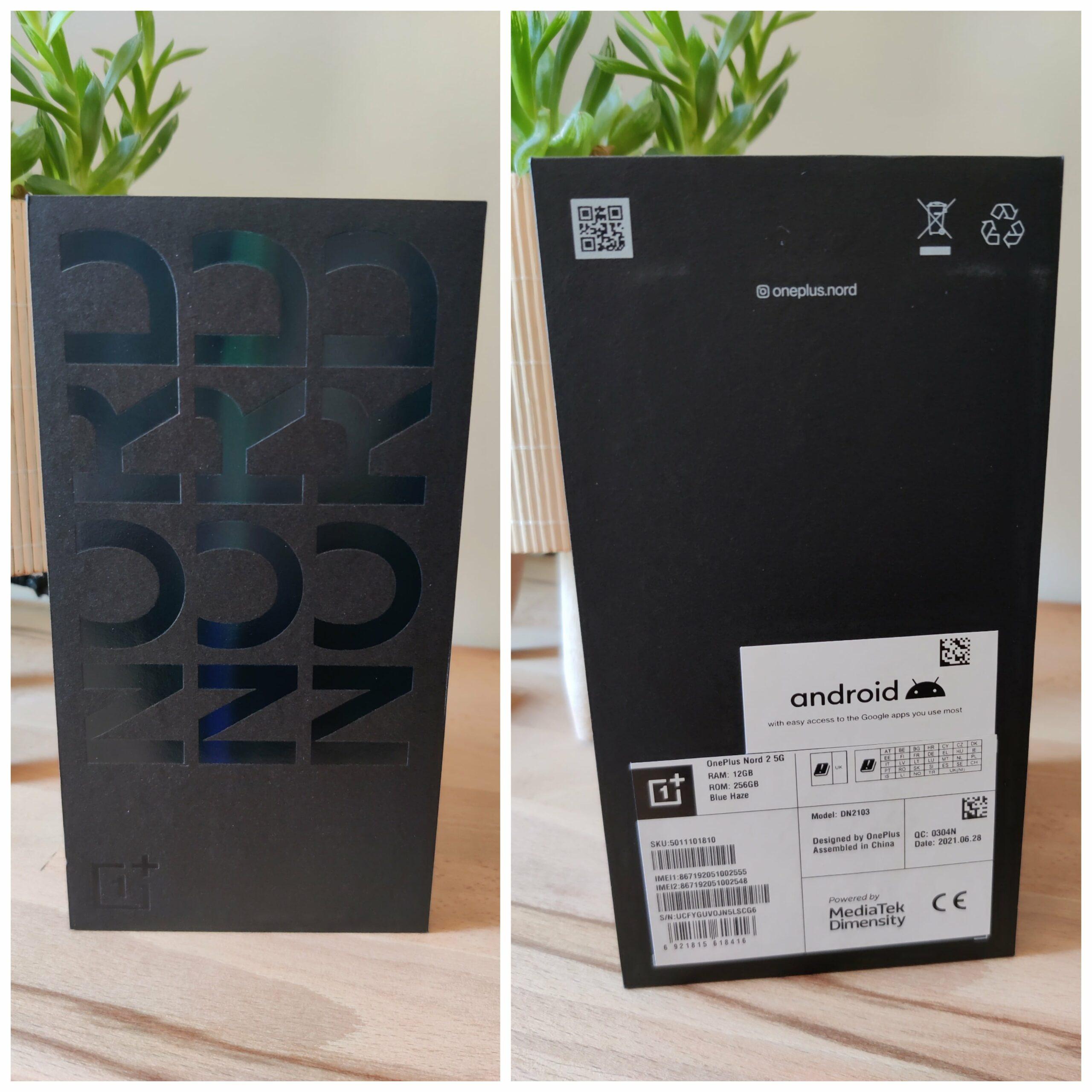 OnePlus Nord 2 box