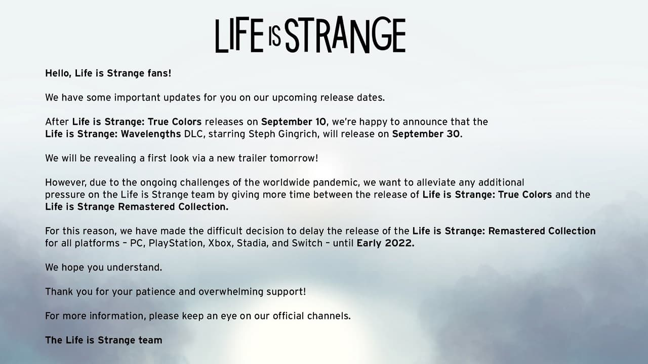 Annonce Life is Strange