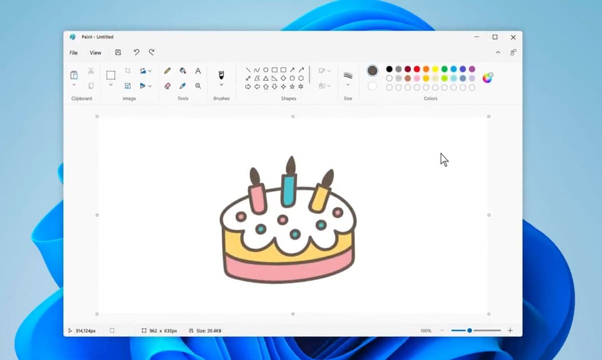 Paint sur Windows 11