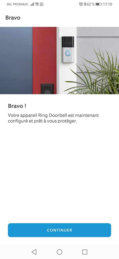 Le logiciel Ring pour smartphone